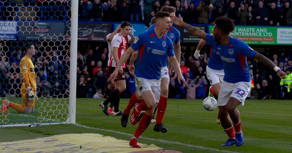 James Bolton scoring for Portsmouth