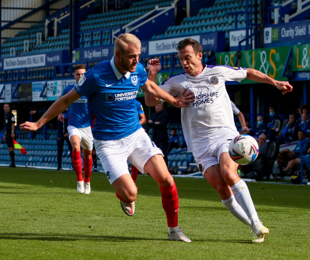 Jack Whatmought 100 appearances for Portsmouth