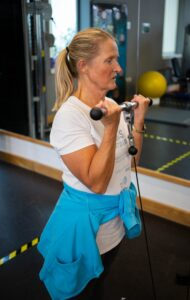 Julie Flippence is one of our members who attends the gym on a regular basis