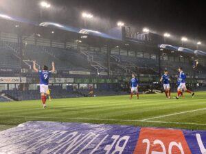 Pompey celebrate four nil victory